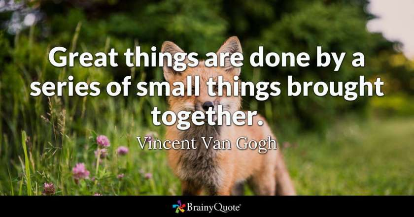 Great Things Quote Vincent Van Gogh